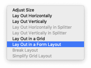 Qt Designer —Layout with a Form Layout
