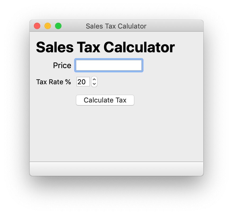 Simple Tax Calculator — Skeleton UI