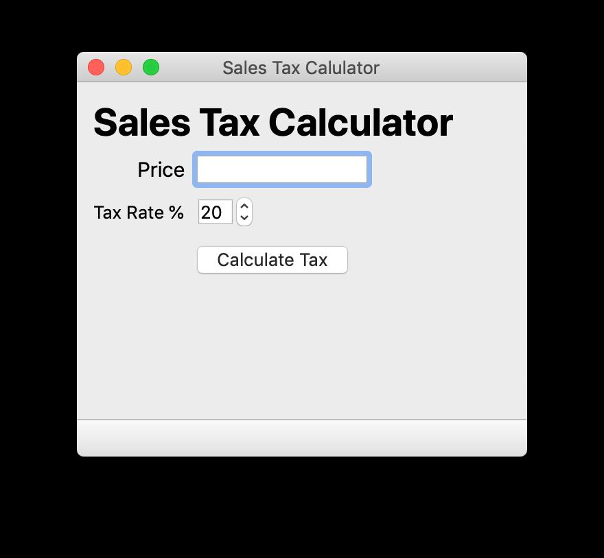 Simple Tax Calculator —Skeleton UI