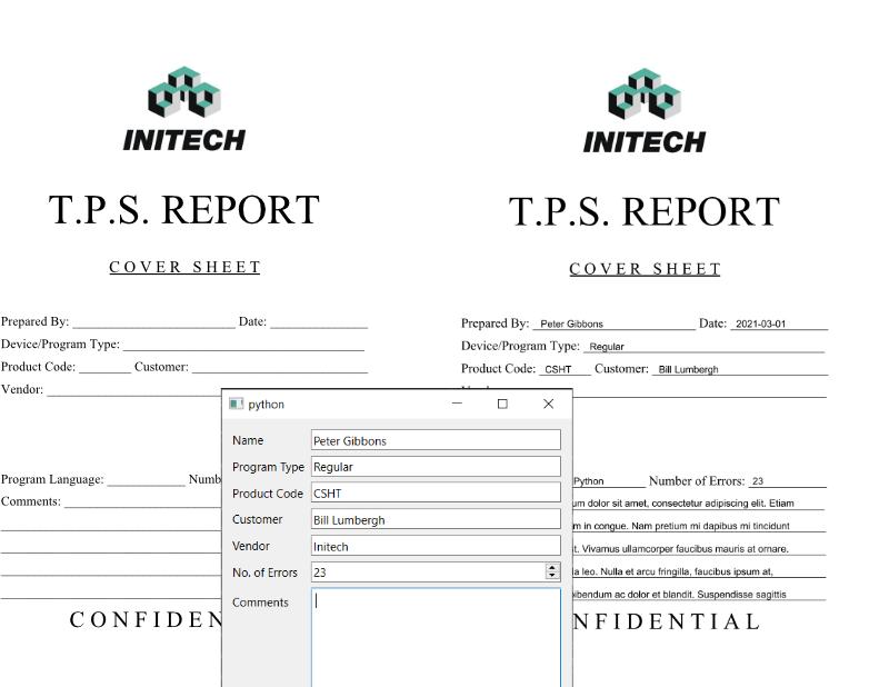 PDF Report generator
