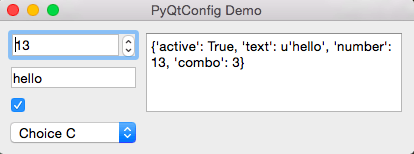 Demo of config setting with widgets #1