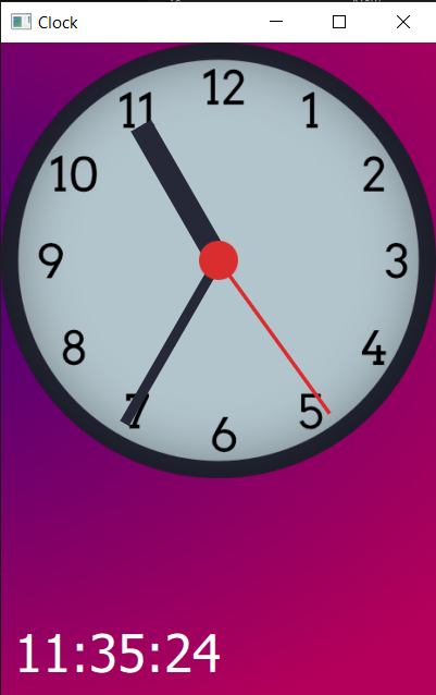 Clock face with all hands rotated to the correct position and antialiased