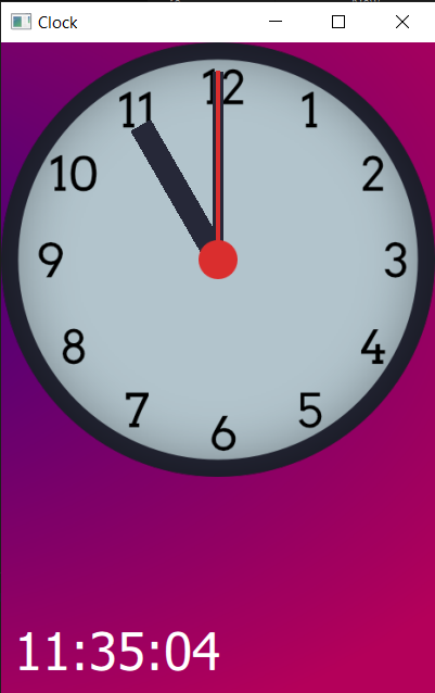 Clock face with hour hand rotated to correct position