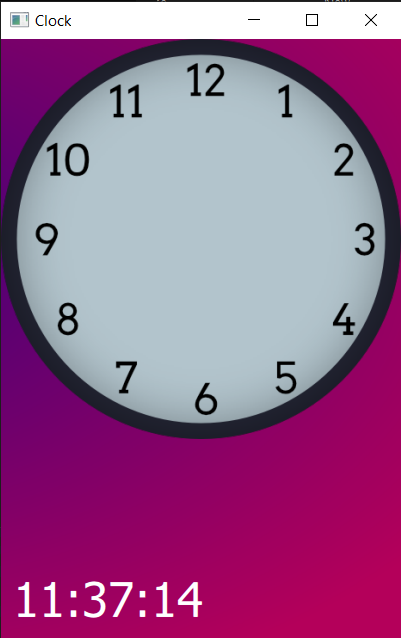 Clock face added to our existing app