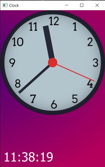 Hour hand progressing through the hour