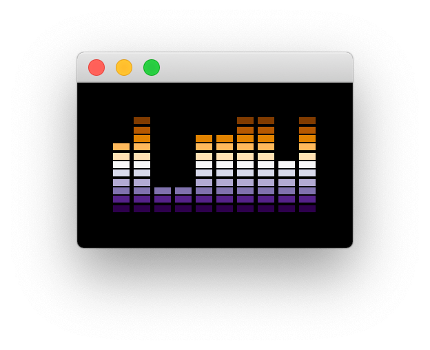 Purple Orange theme with 10 bars