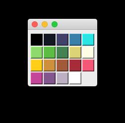 GridLayout Palette with 17 undertones