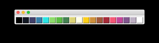 Horizontal Palette widget